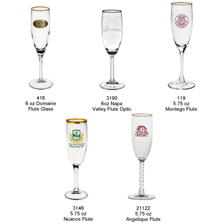 Personalized Champagne Flutes as Wedding Favors. Many Personalized Champagne Glasses to Choose from