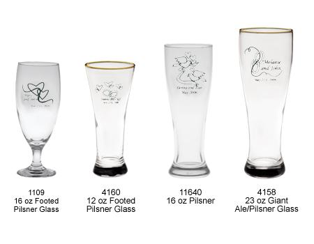 personalized pilsner glasses personalized pilsner glasses as custom