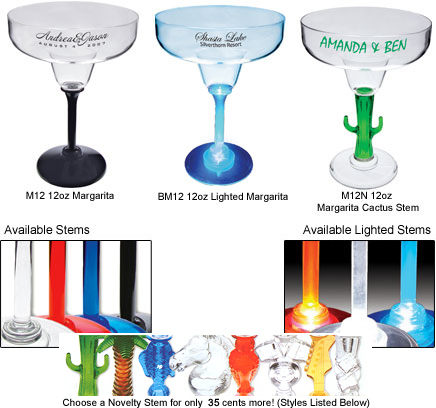 Personalized Plastic Margarita Glasses Personalized Acrylic