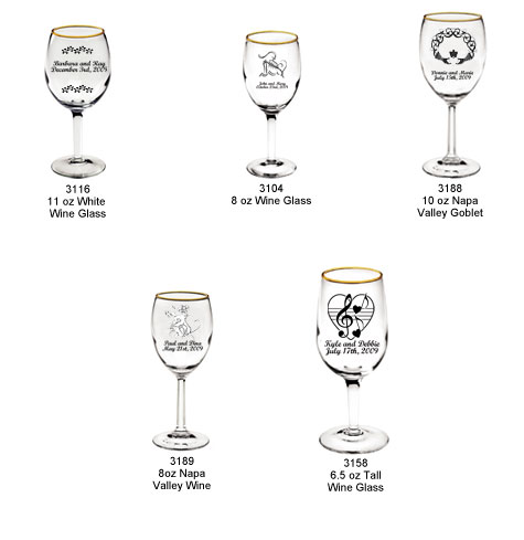 personalized wine glasses personalized wine wedding glasses as
